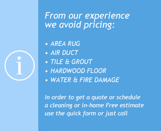 cleaning services pricing