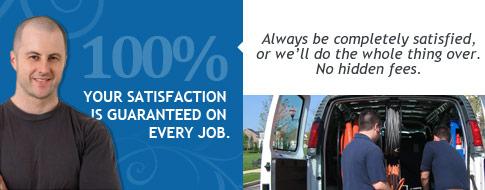 service satisfaction guaranteed